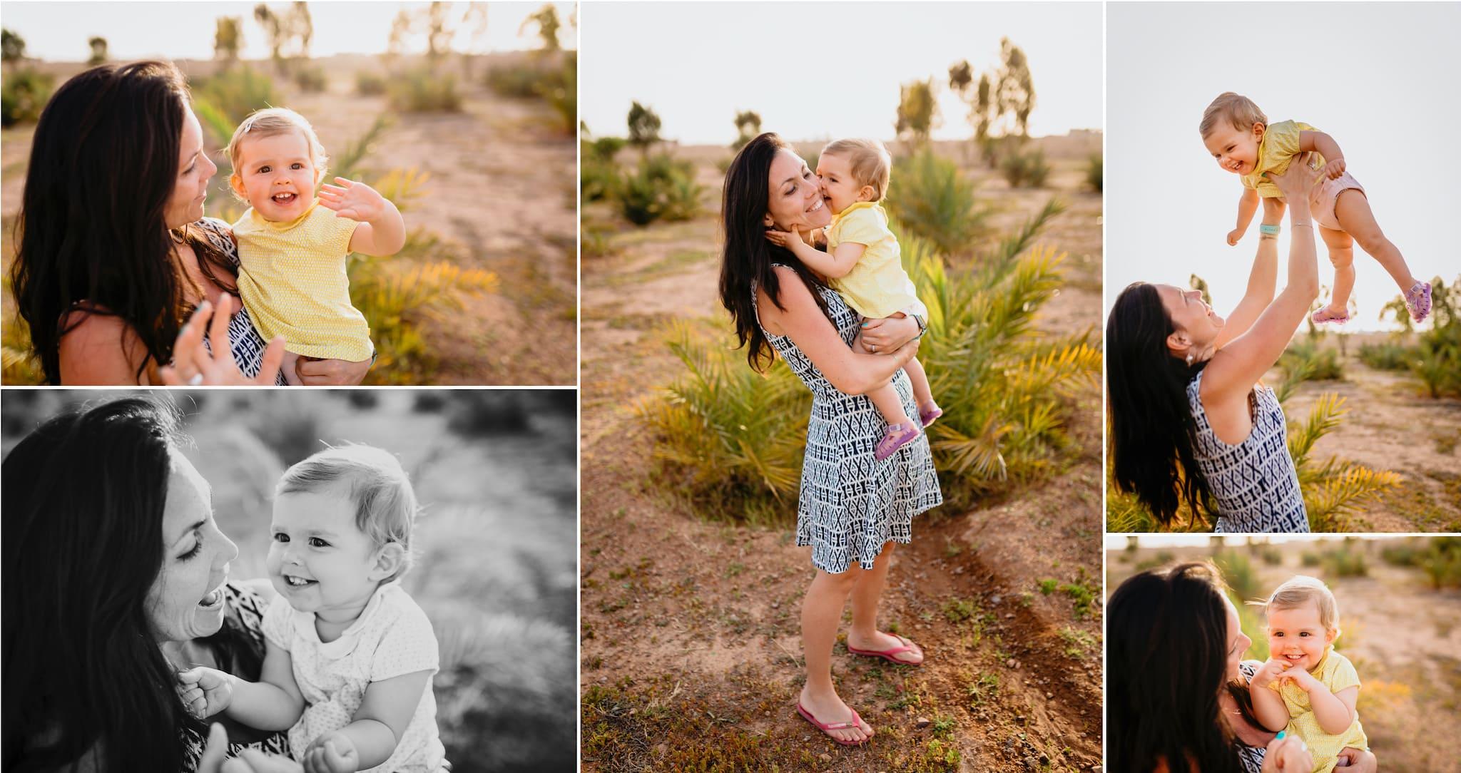 marrakesh ; maroc ; photographe ; séance photo famille ; mère et fille