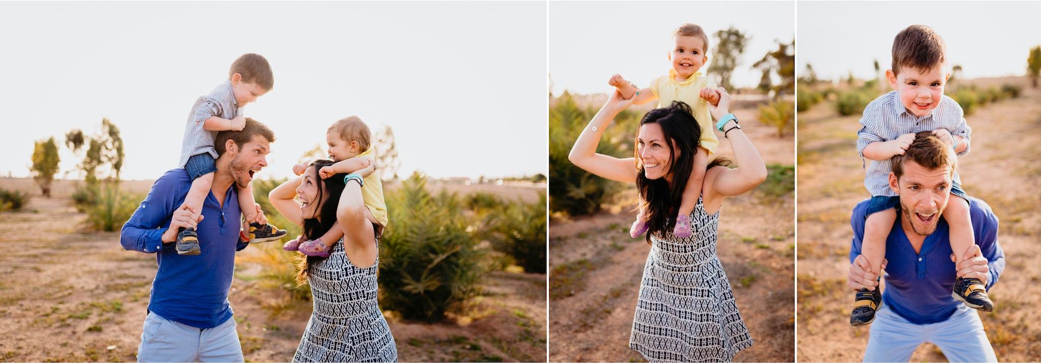 photos de famille ; jeu entre famille ; photographe