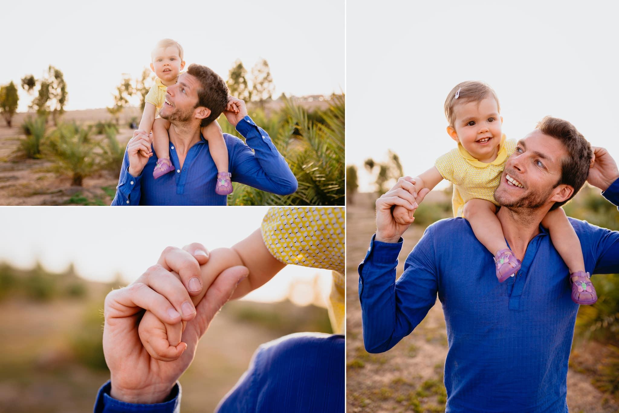 marrakesh ; maroc ; photographe ; séance photo ; père et fille